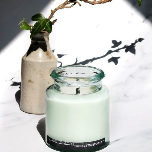 Pipe Tobacco Candle, glass jar candle