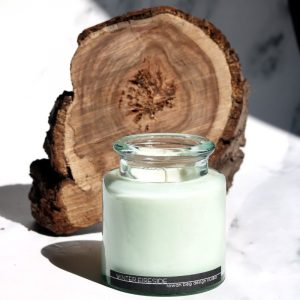 Winter Fireside Candle, connemara collection, glass jar candle
