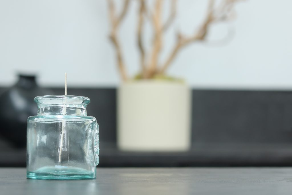 Our Process, empty candle jar